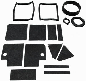 Heater Box Gasket Kit Weatherstrip Seal For Ford Mustang 1965 66 2dr Rubber