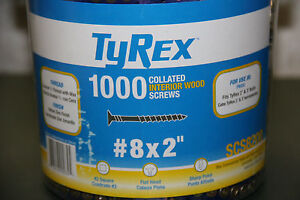 Lot 2 Tyrex 2000ct 8 X 1 1 2 Collated Interior Wood Screws