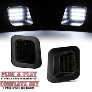Smoked Lens Led Rear License Plate Lights For Dodge Ram 1500 2500 3500 2003 2018