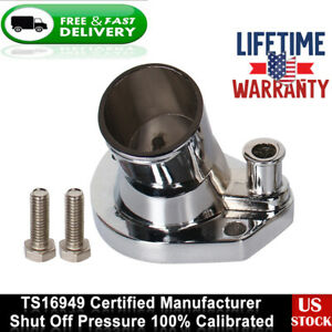For Ford 260 302 351w Polished Aluminum 45 Swivel Water Neck Thermostat Housing