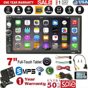 7 2 Din Mirror Link Car Touch Screen Wireless Mp5 Player Stereo Radio W camera