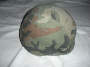 U.S. Military Pasgt Ballistic Helmet with Camouflage Cover