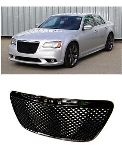 Fits 2011 2015 Chrysler 300 Gloss Black Grille Mesh Bentley Grill Srt Style