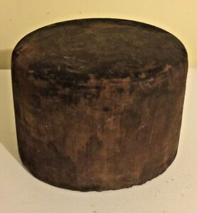 Antique Wooden Hat Mold Wood Block Millinery Form Marked Pan Size 5 1 4