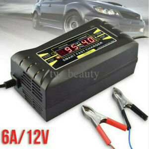 12v 6a Auto Fast Smart Lead Acid Gel Battery Charger For Car Motorcycle Lcd Usa