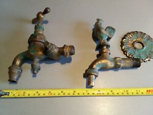 Vintage Bronze Water Faucet French Brass Water Tap For Basin Sink Tub 2 Pcs