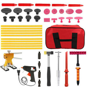 Paintless Dent Puller Kit T Bar Gue Gun Slide Hammer Auto Body Hail Repair Tools