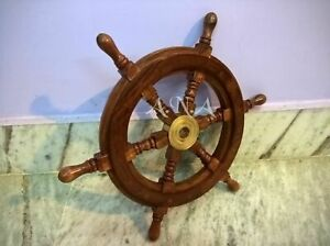 15 Antique Vintage Wooden Ship Wheel Nautical Pirate Collectible Decor Gift