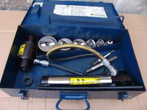 Current Tool Hydraulic Knockout Punch And Die Set Stainless Steel Works Great