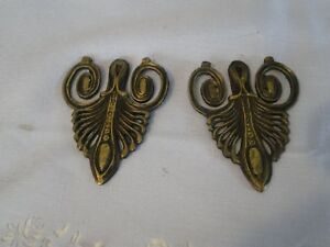 Pair Bronze Or Brass Ormolu Trim Applique