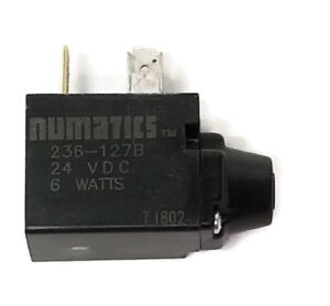 New Numatics 236 127b 24vdc 6 Watts Solenoid Coil