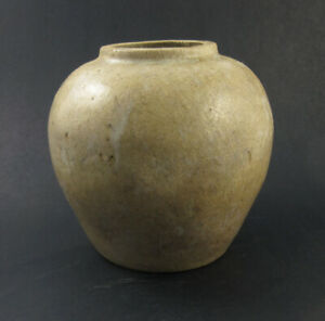 Antique 19th C Korean Vase Pottery Vase Jar