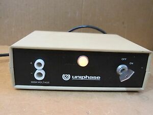 Uniphase Model 1201 1 Laser Power Supply 115v With Key