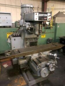 Gorton 2 30 3hp Vertical Mill