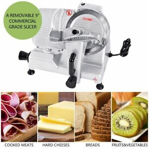 Removable 9 Commercial Blade Meat Cheese Fruit Bread Slicer Semi automatic