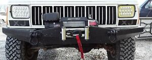 1984 2001 Fits Jeep Cherokee Xj Mj Front Bumper With Winch Mount Free Shipping