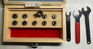 Er16 Precise Bits 9 Collet Set Wooden Box And Wrenches