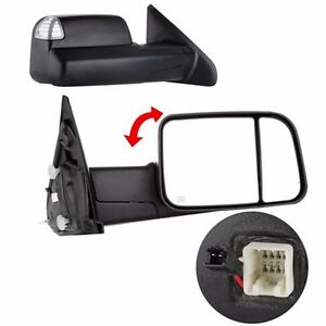2 Tow Mirrors Power Heated Led Signal For 02 08 Dodge Ram 1500 03 09 2500 3500