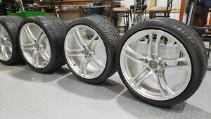 Audi R8 Oem Polished Staggered 19 Staggered Wheels Tire Set Of Four