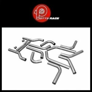 Flowmaster 15935 Universal 2 25 Aluminized Steel U fit Dual Exhaust Kit