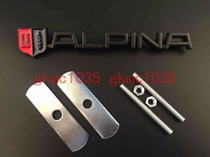 Black Alpina Front Grille Grill Badge Decal Sticker Emblem Fit For Bmw M2 M3 B5