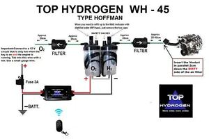 H2 Hydrogen Wh 45 Type Hoffman Fuel Saver Car Kit Wireless Pwm Instead Hho Use