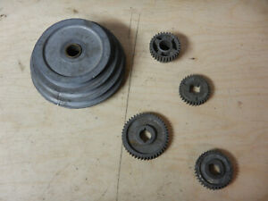 Vintage Sears Craftsman Small Metal Lathe 109 20630 Pulley And Gears