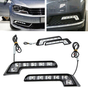Us Car Daytime Running Light Cob 6 Led Dc 12v Drl Auto Driving Fog Strip Lamp