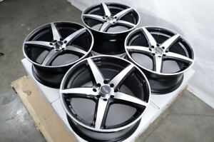 17 Wheels Honda Accord Civic Integra Legend Galant Lancer Yaris Black Rim 4 Lug