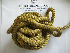 Vintage Antique French Gold Metallic Rope Cord Trim 3 8 Pillow