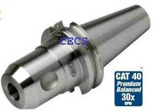 Sowa Gs Cat40 5 8 X 3 0 30k Rpm Cnc Din Coolant End Mill Holder 0002 Run Out