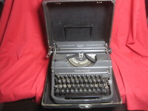 Vtg Underwood Universal Portable Manual Typewriter 1940s W Case Please Read