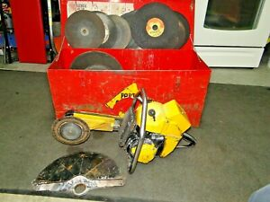 Partner K12 Demolition Demo Rescue Saw 2 Stroke Gas Powered W Case Extra Blades