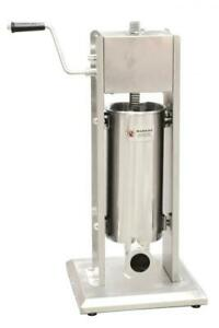 Omcan 24199 Stainless Steel Sausage Stuffer With 11 Lbs Capacity Free Shipping