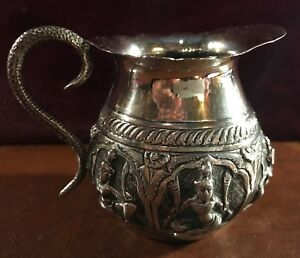 Antique Indian India Silver Cream Pitcher