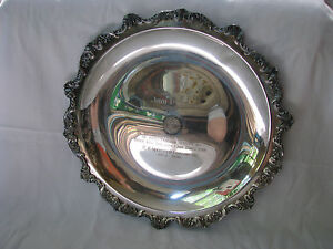 1976 Poole Silver Plated 15 Award Charger Plate Webster Company