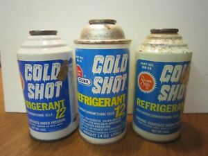 Gunk Cold Shot Refrigerant 12 R 12 Lot Of 3 Larger 14 Oz Cans Made In Usa
