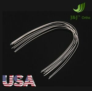 J j Ortho Orthodontic Stainless Steel Arch Wire Rectangular 10pcs ovoid Natural