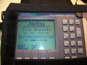 Anritsu S251a 2 Port Site Master Opt 5 10 Case New Battery Charger Full Test