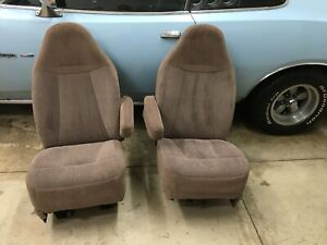 92 96 Ford F150 F250 Bronco Captains Chairs Nos New 92 96 F150 Bucket Seats