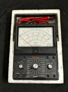 Simpson 260 Series 6xl Analog Multimeter Vintage With Probes And Alligator Clips