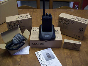 Kenwood Tk 2160 Vhf Handheld Two Way Radio With All Accessories Always New