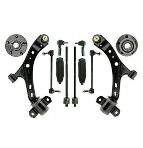 12 New Pc Suspension Kit For Ford Mustang 2005 2009 Control Arms Tie Rod Ends