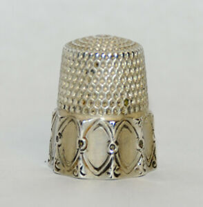 Antique Simons Brothers Sterling Silver Thimble Size 9