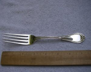 Early Gorham Coin Beaded 1861 Dinner Fork 7 3 8 Inch No Mono Nice Nr