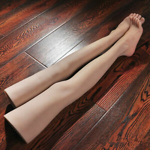 1 Pair Silicone Female Mannequin Sexy Long Leg Foot Model Shoes Display Prop 36