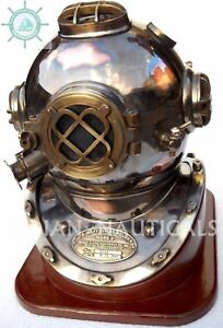 Morse Equipement U S Navy Mark V Diving Divers Helmet Solid Copper
