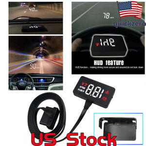 Car Head Up Hd Euobd Obd2 Hud Display Speedometer Auto Electronic Voltage Alarm