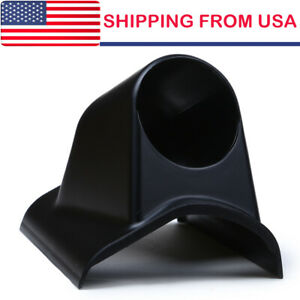 52mm 2inch Single Holes Gauge A Pillar Meter Dash Pod Mount Holder Black Abs Us