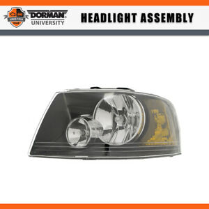 1 Pc Left Headlight Headlamp Assembly Dorman For 2004 2005 Ford Expedition